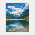 Mountain Valley Lake Fleece Blanket