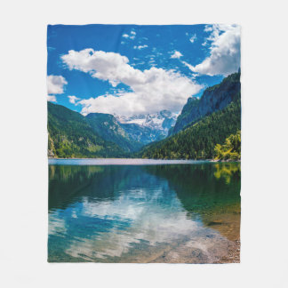 Mountain Valley Lake Fleece Blanket