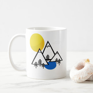 Mountain Valley sunset mug