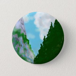 Mountain view 2 inch round button