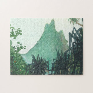 Mountain View From Kee'e Beach Jigsaw Puzzle