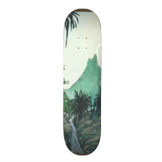 Mountain View From Kee'e Beach Skate Board