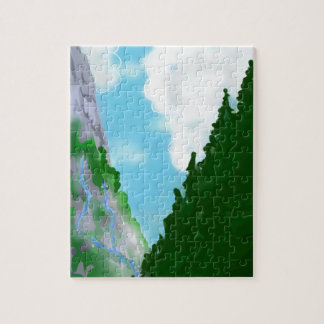 Mountain view jigsaw puzzle