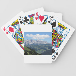 Mountain view of the italian Dolomites at summer Bicycle Playing Cards