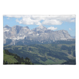 Mountain view of the italian Dolomites at summer Placemat