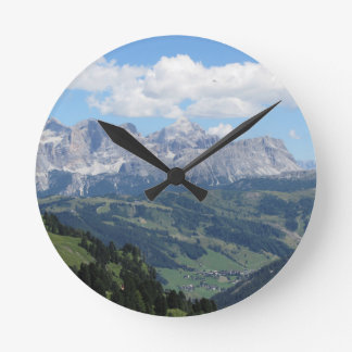 Mountain view of the italian Dolomites at summer Round Clock