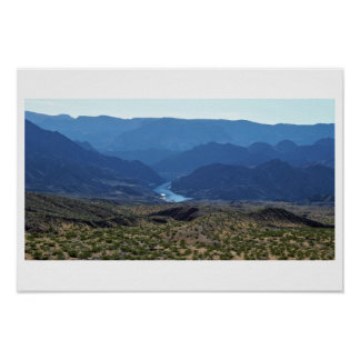 Mountain View Waterscape Poster