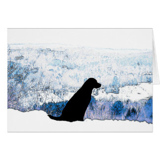 Mountain Views Black Labradors Card