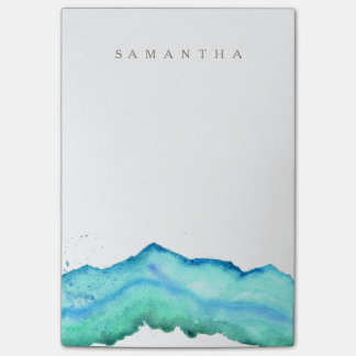 Mountain Watercolor | Custom Name Post-it Notes