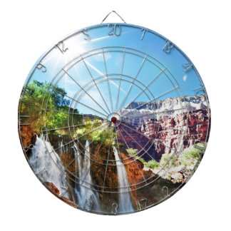 Mountain Waterfall Dartboard