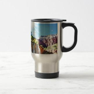Mountain Waterfall Travel Mug