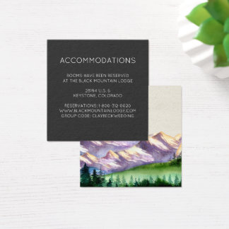 Mountain Wedding Hotel Accommodation Cards