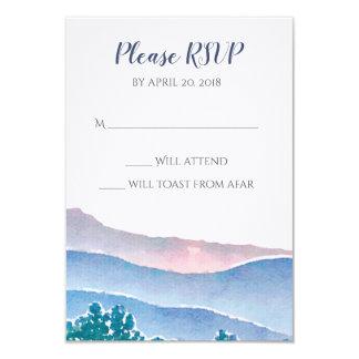 Mountain Wedding Invitation Suite - RSVP Card