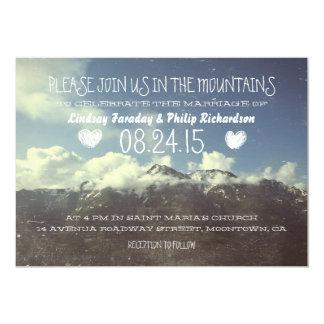 "mountain wedding invitations 5"" x 7"" invitation card"