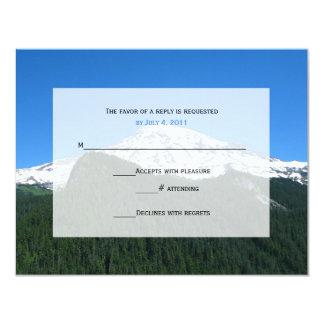 "Mountain Wedding RSVP Invitation 4.25"" X 5.5"" Invitation Card"