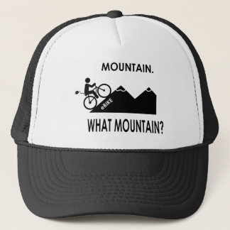 """Mountain. What mountain?"" caps/hats Trucker Hat"