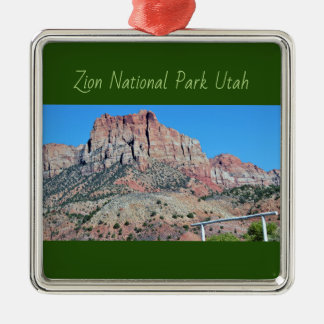 Mountain Zion National Park Metal Ornament