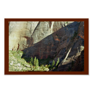 Mountain Zion National Park Poster