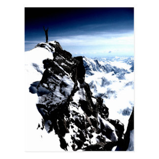 Mountaineer Achievement Snow Winter Postcard
