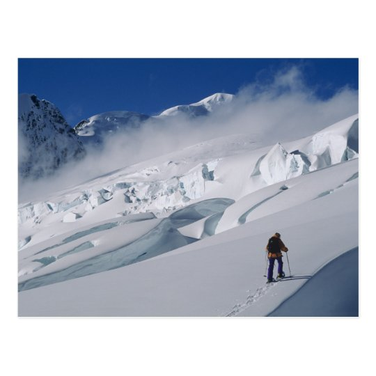 Mountaineer on the Tasman Glacier in Mount Postcard
