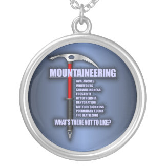 Mountaineering 2 silver plated necklace