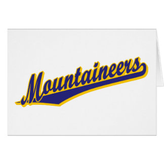 Mountaineers in Blue and Gold Greeting Cards