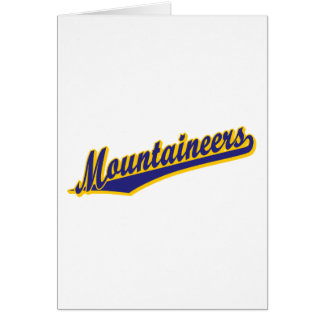 Mountaineers in Blue and Gold Card