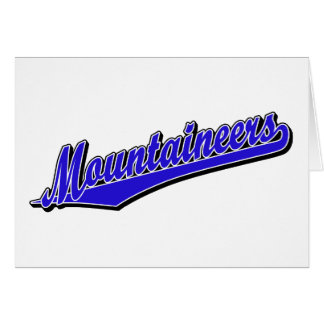 Mountaineers in Blue Greeting Card