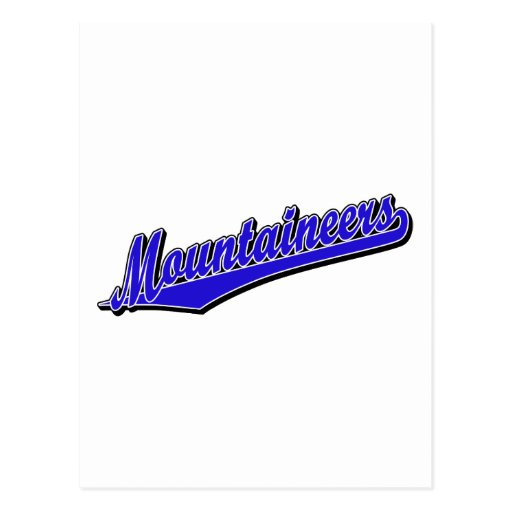 Mountaineers in Blue Post Card