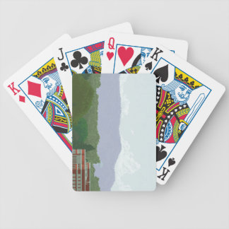 mountainous view bicycle playing cards
