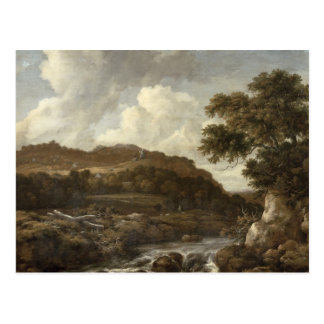 Mountainous Wooded Landscape with a Torrent Postcard
