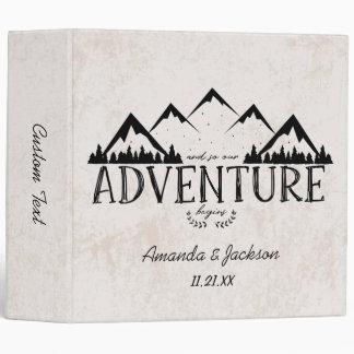 Mountains Adventure Begins Wedding Photo Album Vinyl Binders
