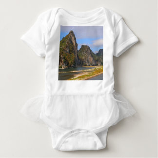 Mountains along Li River, China Baby Bodysuit