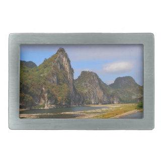 Mountains along Li River, China Belt Buckle
