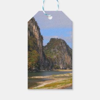 Mountains along Li River, China Gift Tags