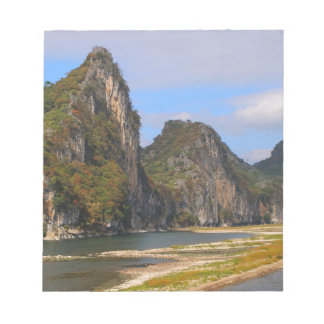 Mountains along Li River, China Notepad
