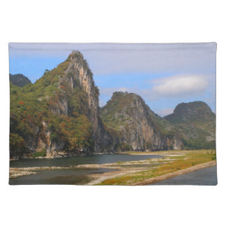 Mountains along Li River, China Placemat