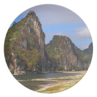 Mountains along Li River, China Plate