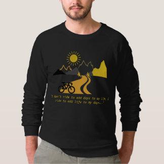 Mountains and Bike Men's Sweatshirt. Sweatshirt