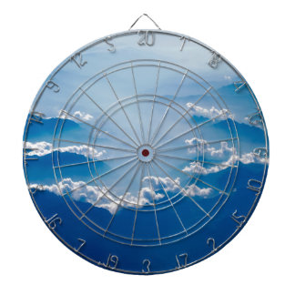 Mountains and Clouds Dartboard