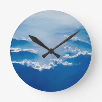 Mountains and Clouds Round Clock