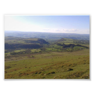 Mountains and countryside art photo