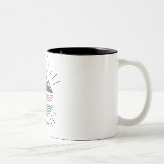 Mountains and Ocean Two-Tone Coffee Mug
