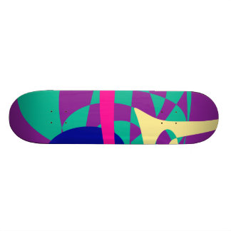 Mountains and Planet Skateboard Deck