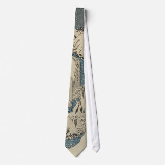 Mountains and rivers on the Kiso Road Tie