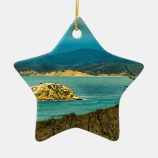 Mountains and Sea at Machalilla National Park Ceramic Star Ornament