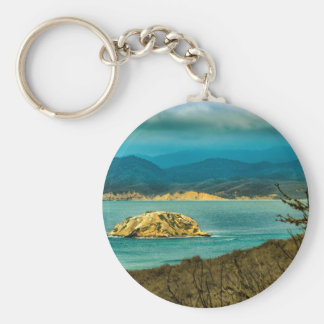 Mountains and Sea at Machalilla National Park Keychain