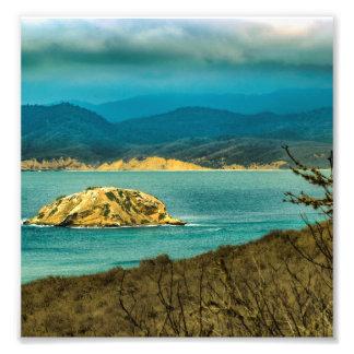 Mountains and Sea at Machalilla National Park Photograph