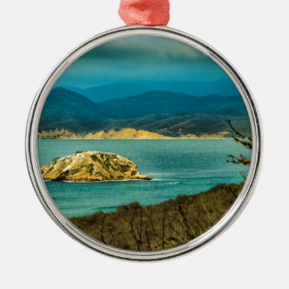 Mountains and Sea at Machalilla National Park Silver-Colored Round Ornament