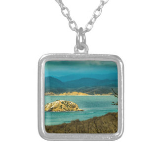 Mountains and Sea at Machalilla National Park Silver Plated Necklace